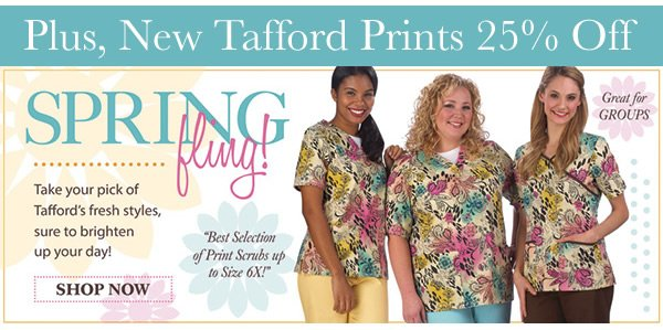 Spring Fling! 25% Off New Tafford Prints - Shop Now