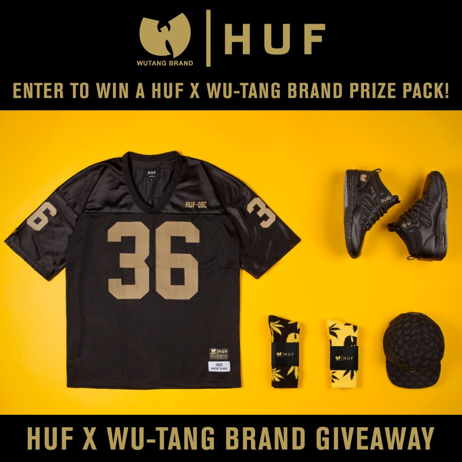 HUF GIVEAWAY // WIN A HUF X WU-TANG BRAND PRIZE PACK