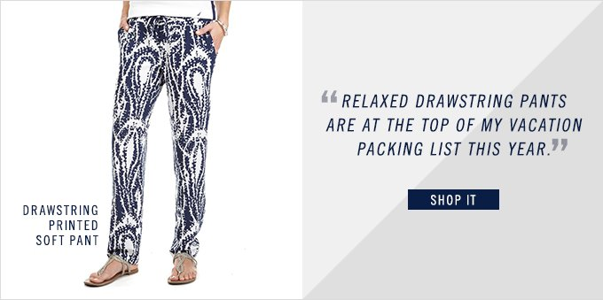 Shop Drawstring Printed Soft Pant
