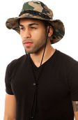 The Lifted Boonie Hat in Khaki Wolf Camo