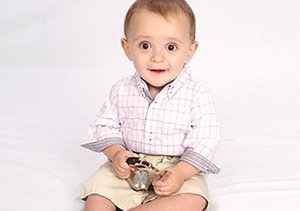 Buttoned-Up Baby: Andy & Evan Shirtzies