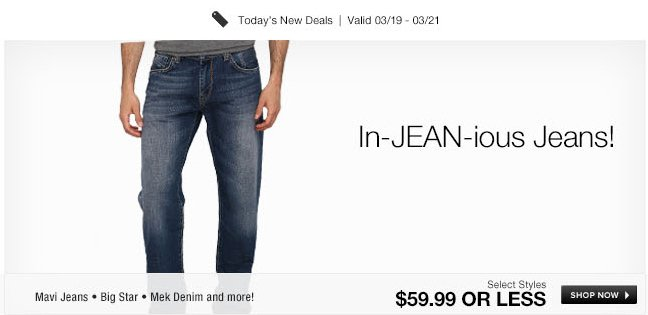 In-JEAN-ious Jeans!