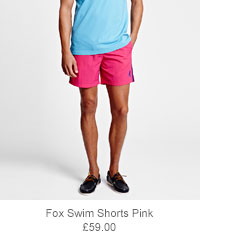 Fox Swim Shorts Pink