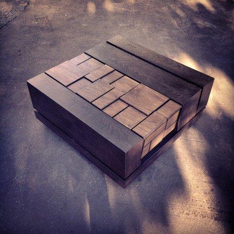 Abaci Walnut 34 // Square Coffee Table