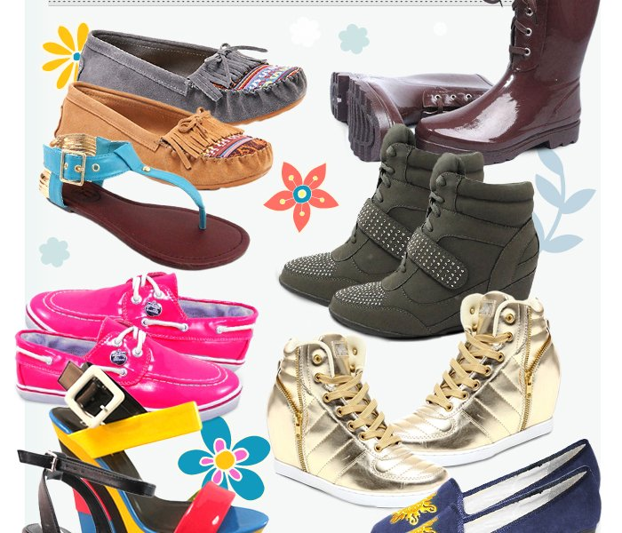 March Madness Footwear Blowout: Sandals, Sneakers & More. Our favorite spring styles are finally here, so update your wardrobe with sneakers, boots, and glam sandals that add a fashionable edge to your everyday looks!