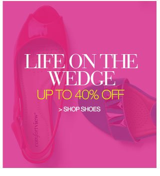 Life on the Wedge up to 40 percent off - shop shoes