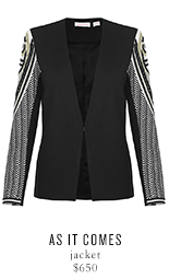 AS IT COMES jacket - $650