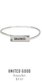UNITED GOOD bracelet - $110
