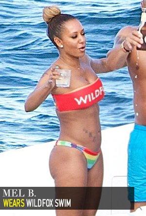 Mel B in Wildfox Swim