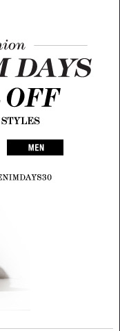 Demin Days 30% Off | Shop Men