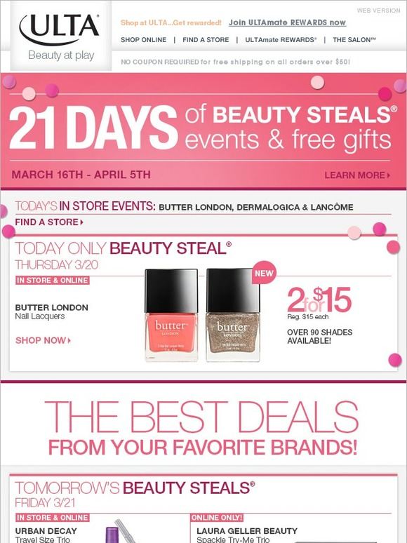 Ulta: Today Only! Butter London Beauty Steal | Milled