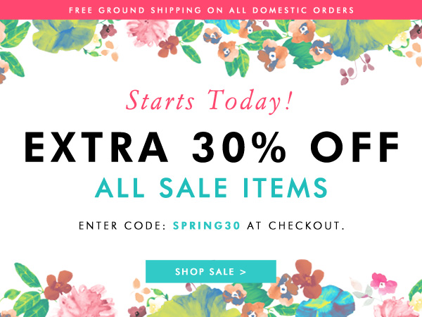 Take an extra 30% off all sale items!