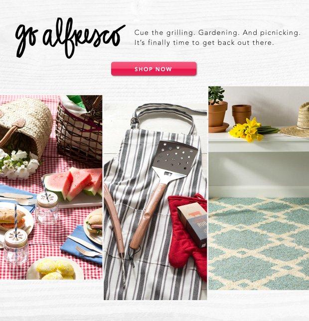 Go Alfresco: Essentials for Outdoor Living