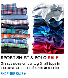 sport shirt and polo sale - shop the sale