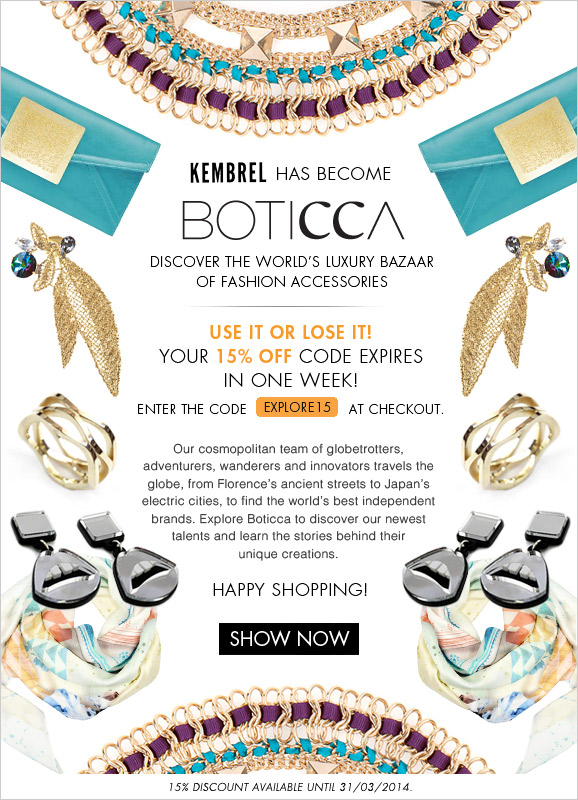 Welcome to Boticca.com - 15% off use code EXPLORE15