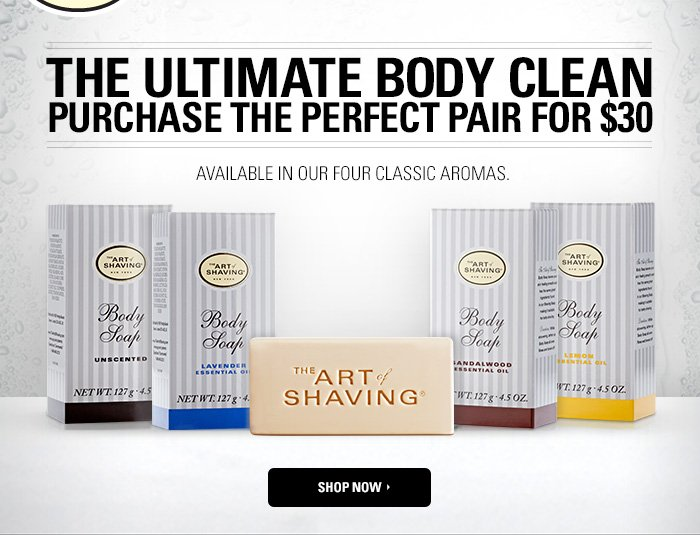 The Ultimate Body Clean - Purchase The Perfect Pair for $30. Available in our four classic aromas. Shop Now