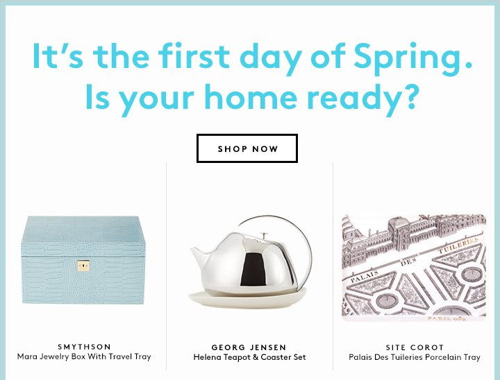 Let the light in with new spring arrivals for the home. Shop now!