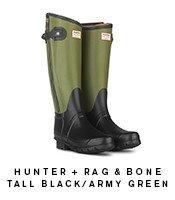 Rag&Bone Black/Army Green Boot