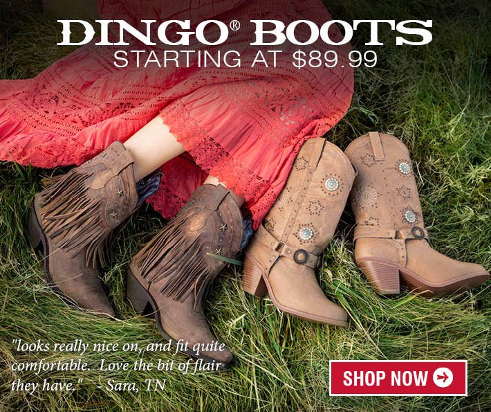 Dingo Boots Starting at $89.99!