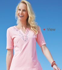 View the Neck Detail Top