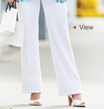 View the Wide Leg Crepe Trousers