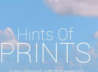 Hints of prints