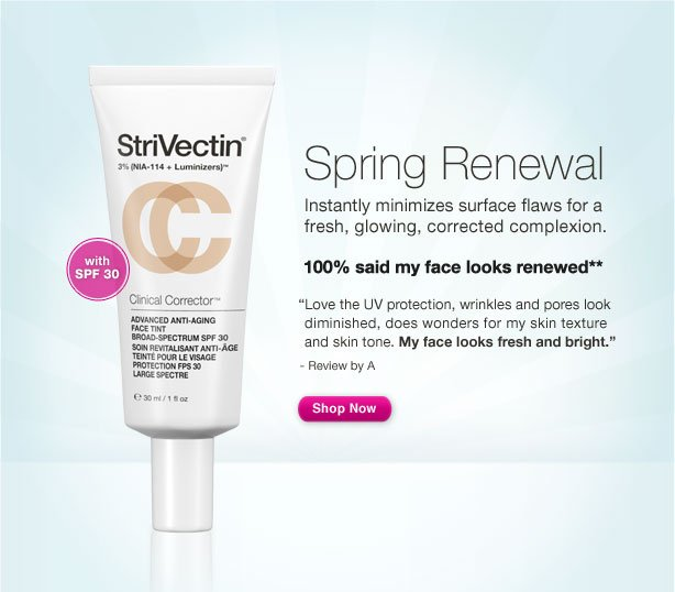 Spring Renewal Instantly minimizes surface flaws for a fresh, glowing, corrected complexion.