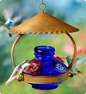 Lapis Blue Hummingbird Feeder Shop Now