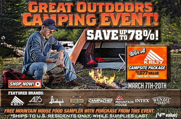 Sportsman's Guide's Great Outdoors Camping Event!