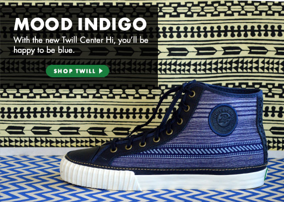 With the new Twill Center Hi, you'll be happy to be blue.