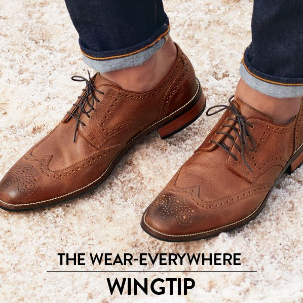 A soft, muted finish makes wingtip oxfords even more versatile—they'll work  with a suit or your favorite dark-wash jeans. From Cole Haan and more.