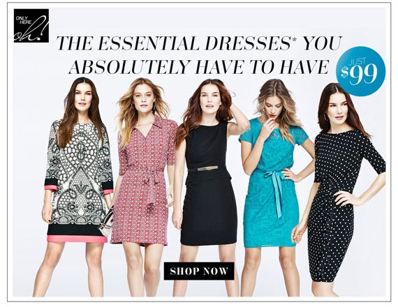 The Essential Dresses* You Absolutely Have to Have.  Shop Now