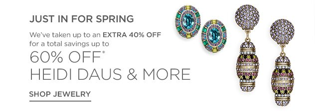 Up to 60% off Jewelry