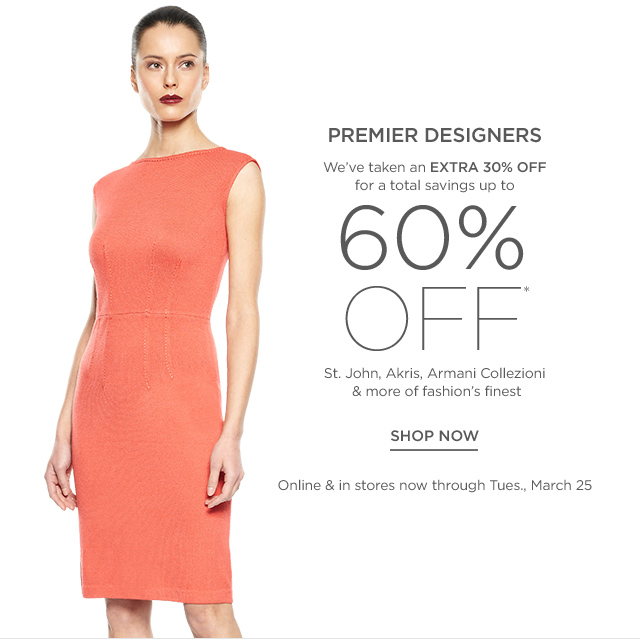 Up to 60% off Premier Designers