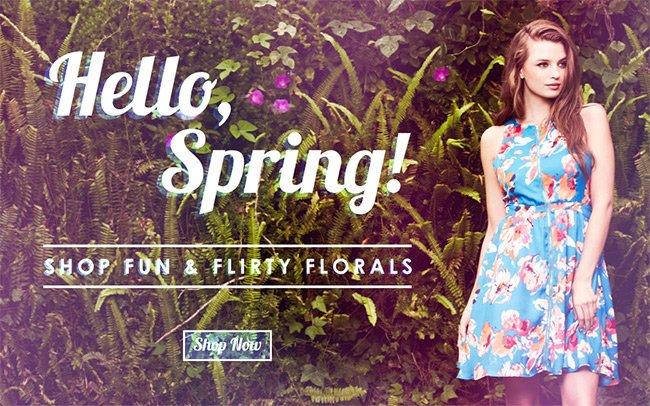 Hello Spring! | Shop Florals