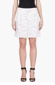 GIAMBATTISTA VALLI Black & ivory marled bermuda shorts for women