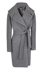 Large Collar Belted Coat