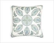 Samarkand Blue and Green Cushion