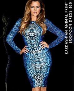 Kardashian Animal Print Bodycon Dress