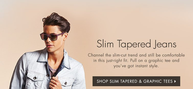 Shop Slim Tapered & Graphic Tees