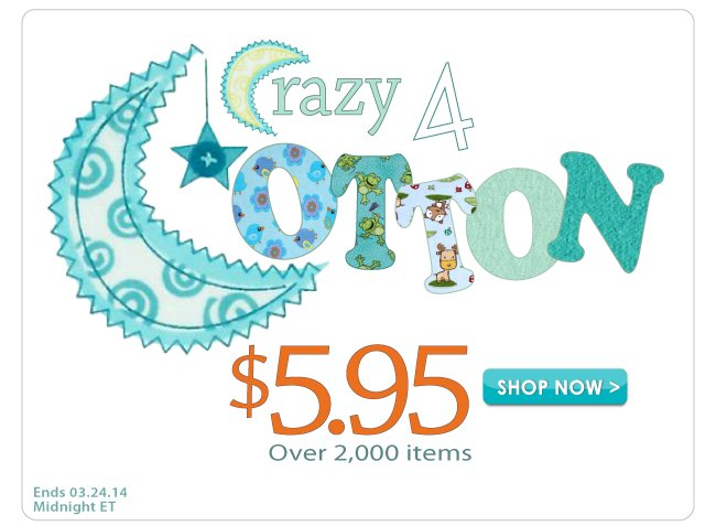 Crazy for Cotton $5.95 yard