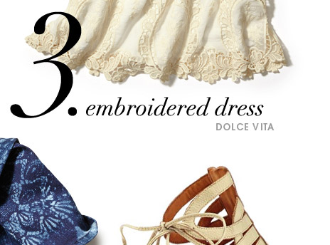 3. embroidered dress