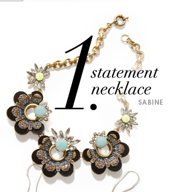 1. statement necklace