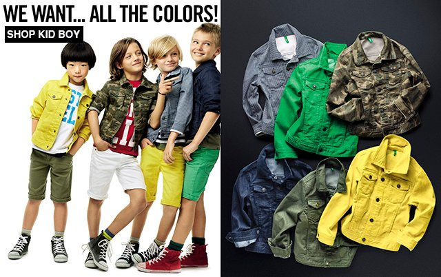 Boys will be boys. Shop Denim Jackets in colors and patterns!
