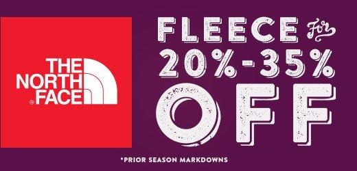 North Face Fleece 20-35 percent off