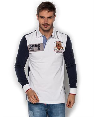 Giorgio di Mare 100% Cotton Long-Sleeved Polo Shirt Made In Europe