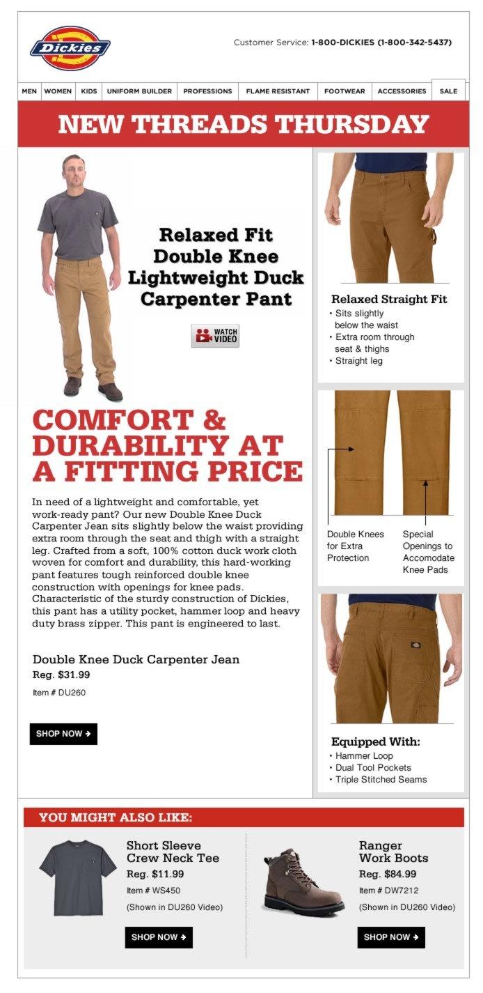 New Threads Thursday: Lightweight Duck Jean + Watch Video