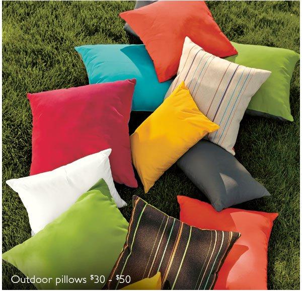 Outdoor pillows $30 - $50