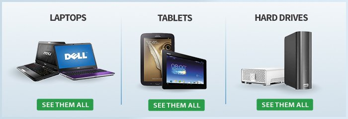 Save On Laptops, Tablets, And Hard Drives!