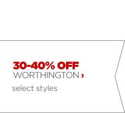 30–40% OFF WORTHINTON ›   select styles